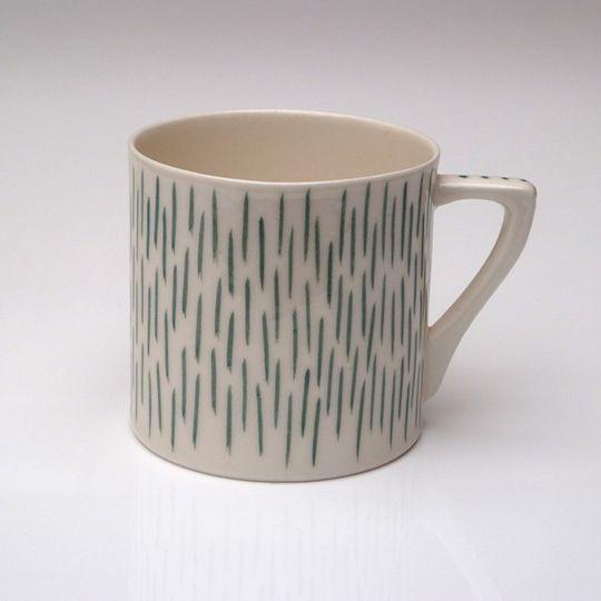 Turquoise Strokes Mug