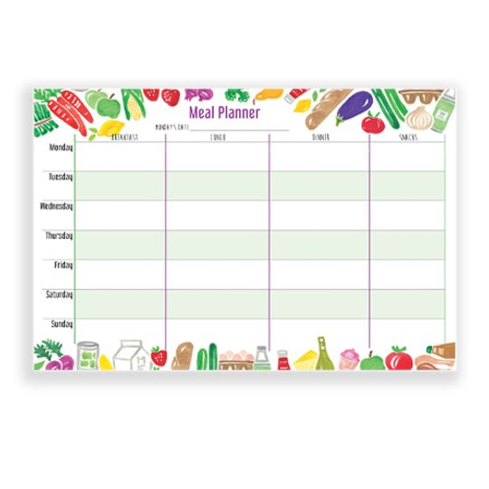 A4 Meal Planner
