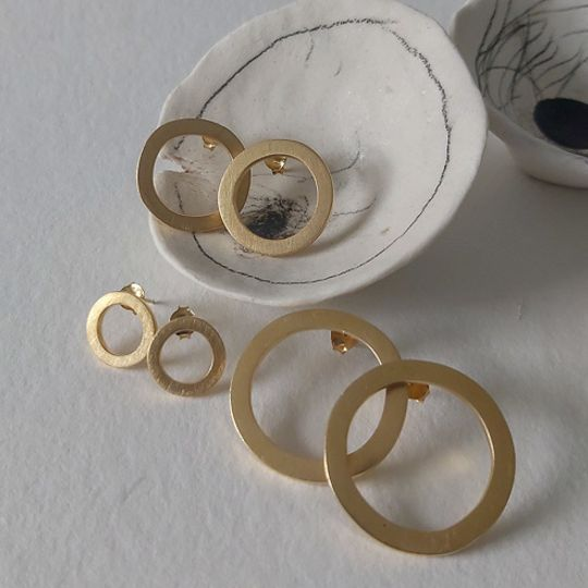 Free Form Earrings (gold plated)