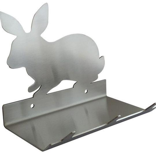 Rabbit Keys Rack with Sunglasses Tray V1 - 3 Hooks - Stainless Steel