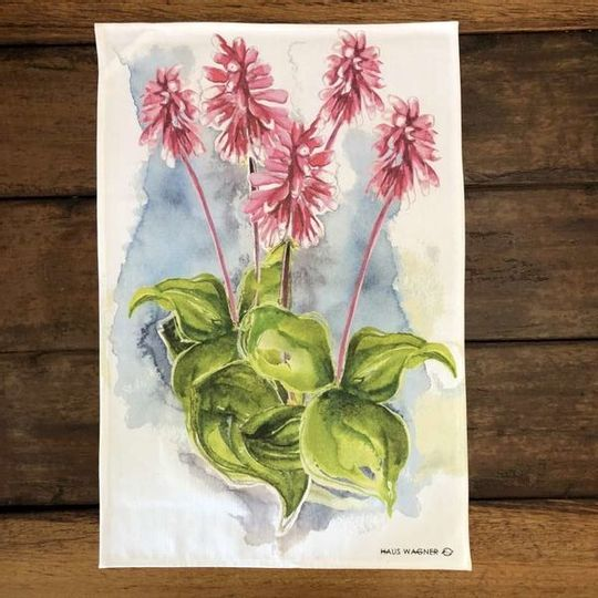 Tea Towel - Pink Aloe