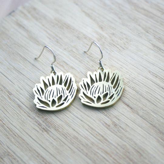 Open Protea Earrings