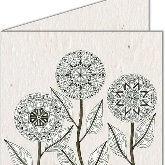 Greeting Card | Mandala Flowers