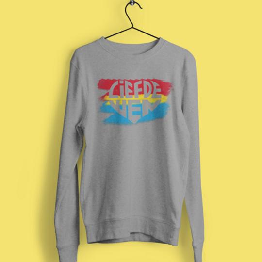 Liefde Wen Grys Retro Sweater