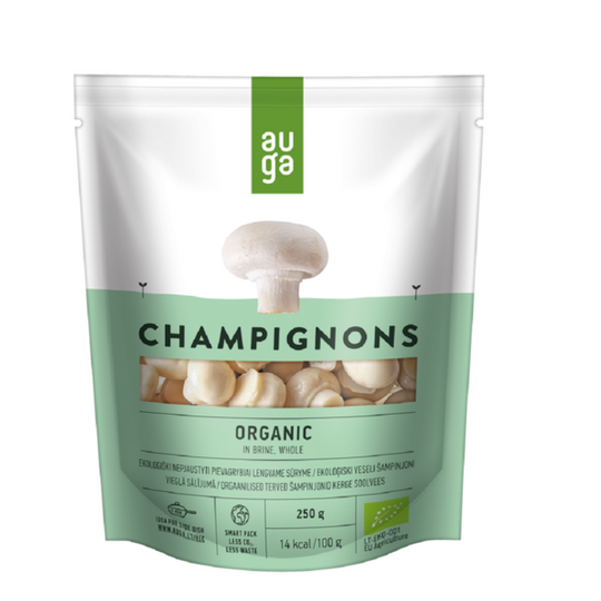 Auga organic champignons in brine whole 250g