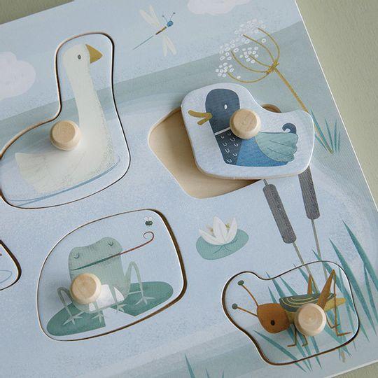 Little Dutch Wooden Sound Puzzle - Animals