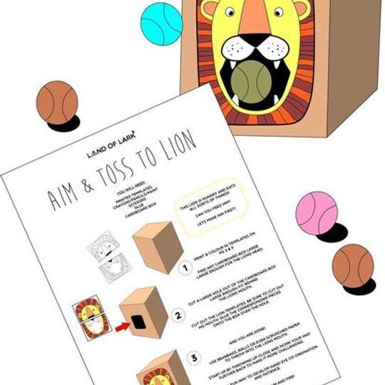 FREE Aim & Toss to lion printable