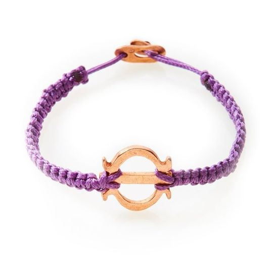ICON Macrame Bracelet Tenacity - Purple