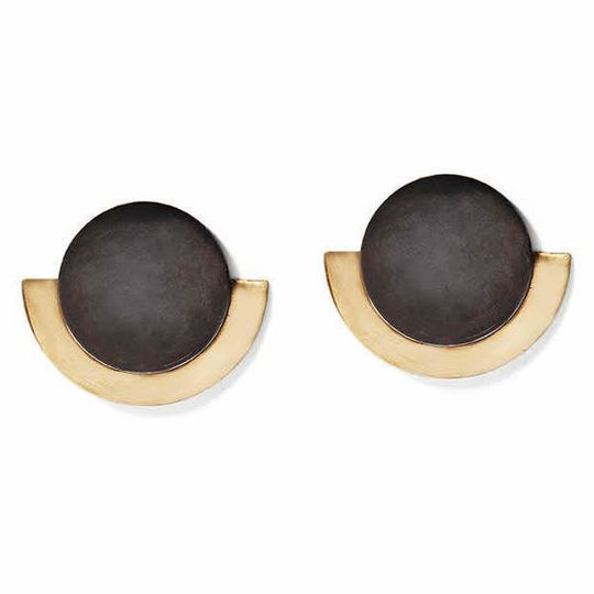 Charcoal & Gold Round Deco