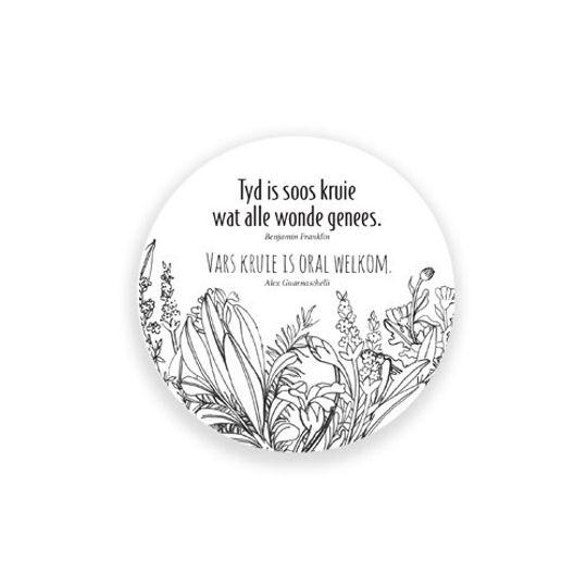 24 Coasters - Herbs Afrikaans