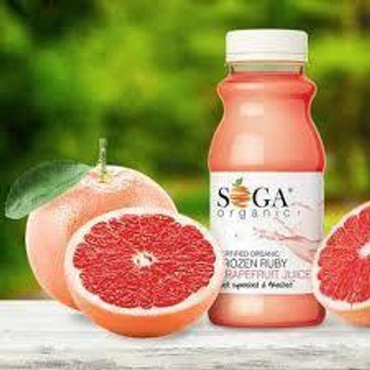 SOGA Organic Frozen Ruby Grapefruit Juice (250ml)