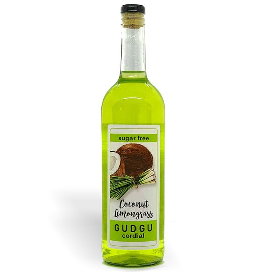 GUDGU SugarFREE Coconut Lemongrass Cordial 750ml