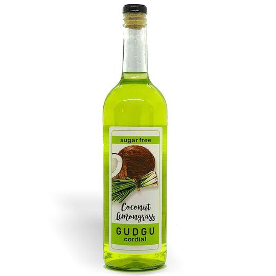 GUDGU SugarFREE Coconut Lemongrass Cordial 750ml