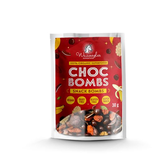 Wazoogles Superfood Snack Bombs - Choc Bombs 30g