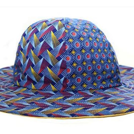 Hat / Unisex - Red and Blue- M0418