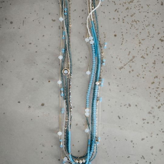 Fushion Necklace - Turquoise Blues