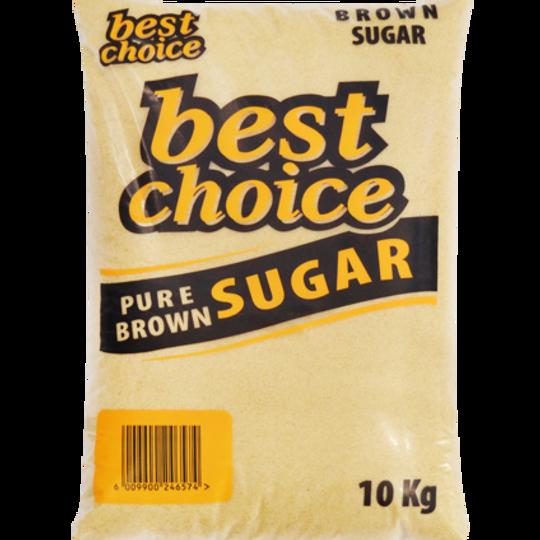 10kg Best Choice Brown Sugar.