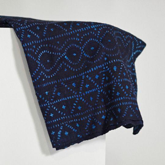 Indigo mud cloth from Mali