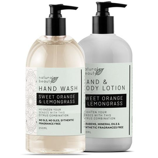 Sweet Orange Hand Wash & Lotion Set