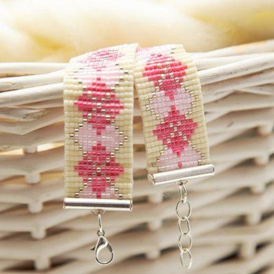 Pink Diamond Loom Bracelet