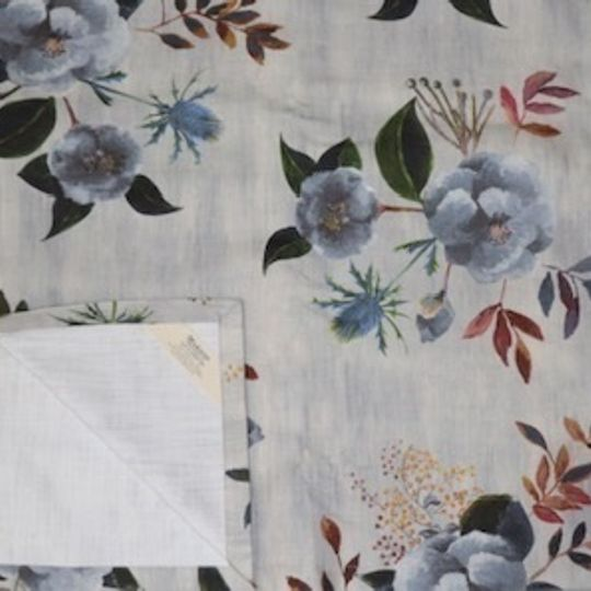 Japonika blue and grey printed on 100% cotton