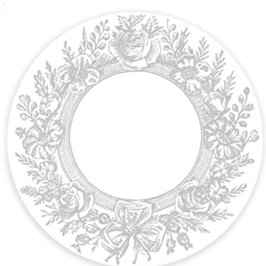 24 Placemats - Grey Wreath