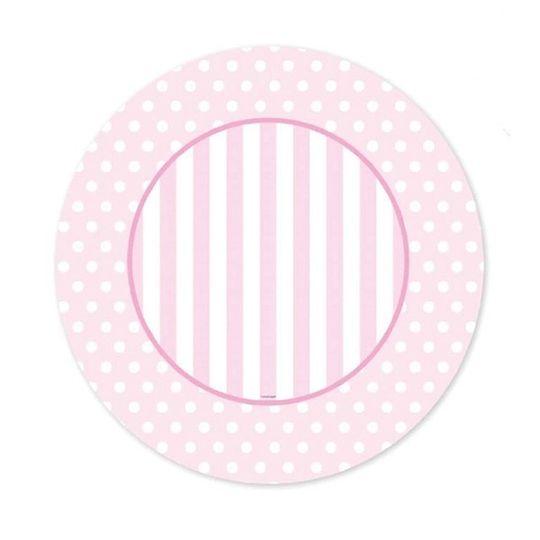 36 Placemats - Pink Polka Dots & Stripes