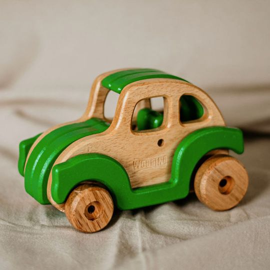 """""""Bugsby"""" Wooden Toy Car"""
