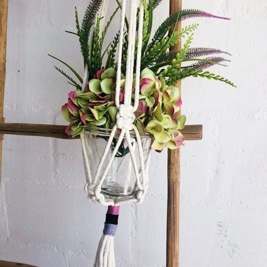 Macrame with Thread Detail
