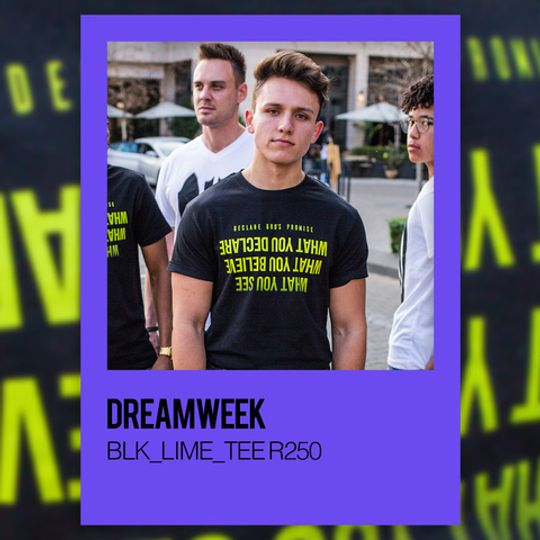 DREAMWEEK BLK_LIME_TEE