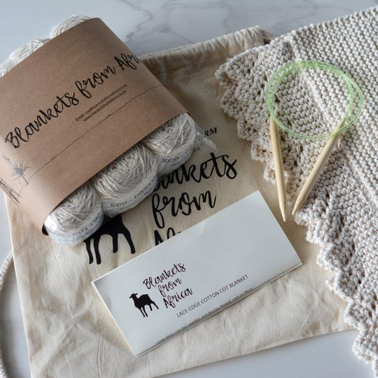 Knit your own: Eco-cotton blanket