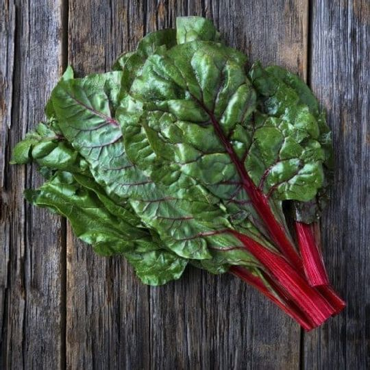 Organic  Heeirloom Multi Colour Swiss Chard (350g)