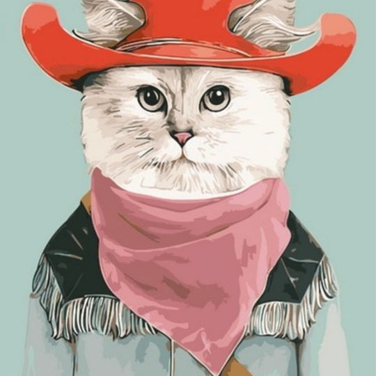 Cat in a Cowboy Hat