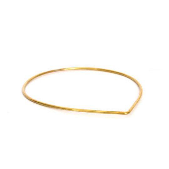 Brass Bangle - Teardrop Shape
