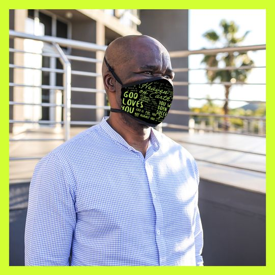 CRC Branded Protective Mask - Black & Green