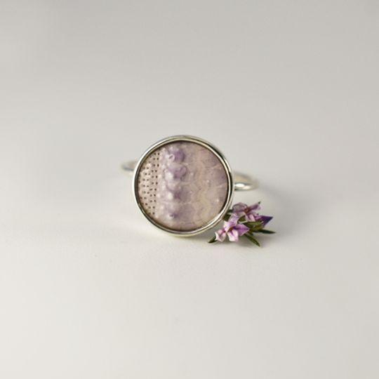 Lilac Sea Urchin Ring