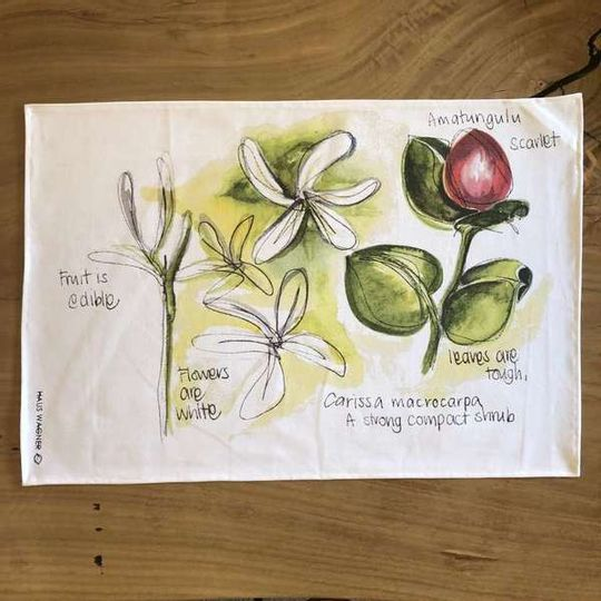 Tea Towel - Carissa macrocarpa
