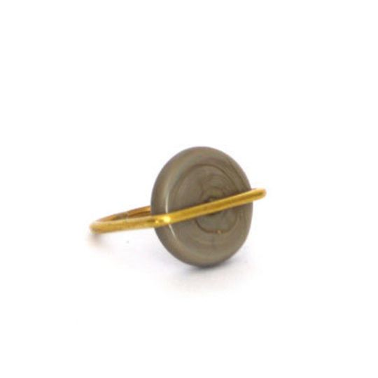 Brass Ring with Glass Circle