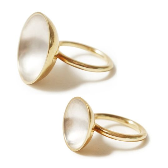 Gold & silver bowl domed ring