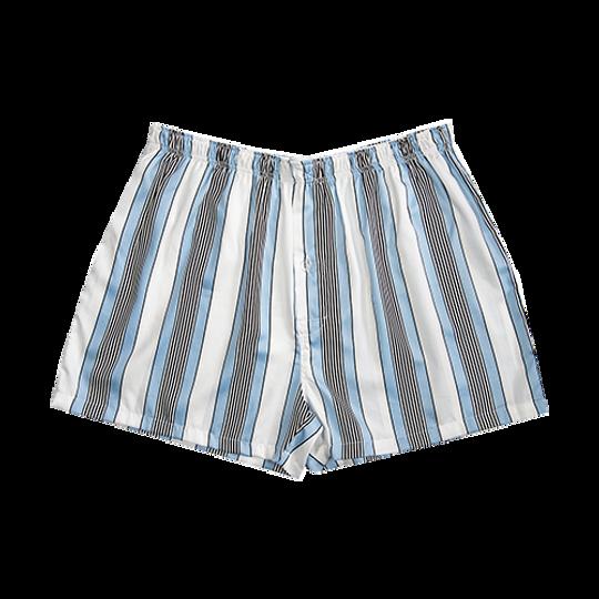 Mens Boxer Shorts White Stripe