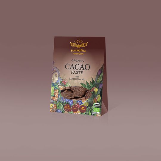 SOARING FREE SUPERFOODS Organic Raw Cacao Paste - 200g
