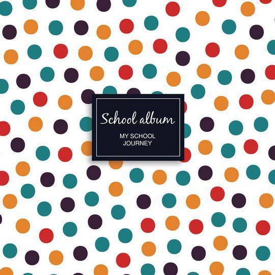 School album - colourful dots