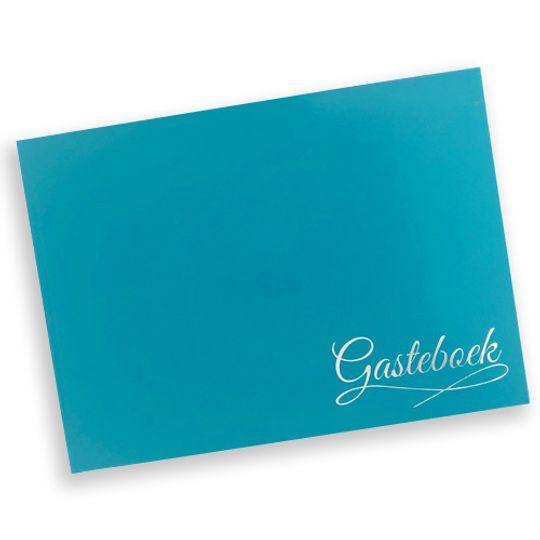 Guest Book - sea blue Afrikaans