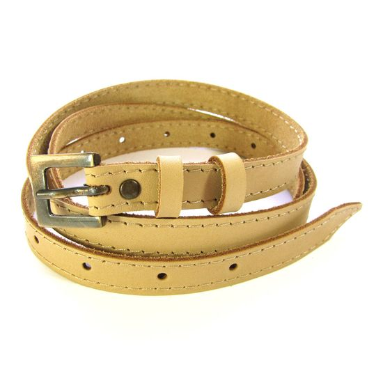 Skinny Belt - Pale Tan