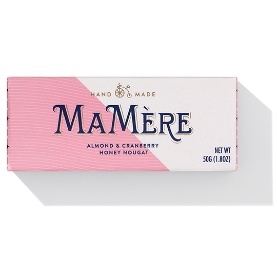 Ma Mère Almond & Cranberry Honey Nougat (50g)