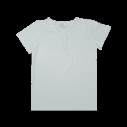 Kids Short Sleeve - Buttons White