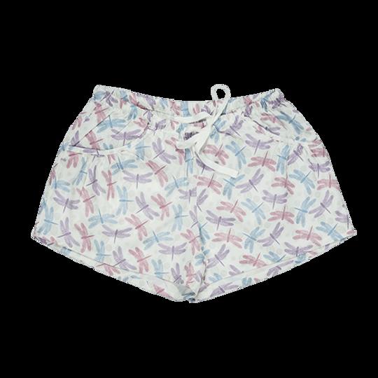 Girls Short Pants - Pockets Dragonfly