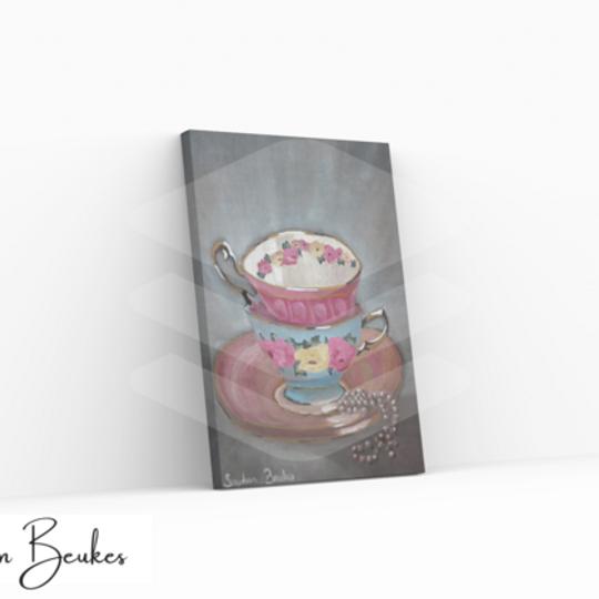 Two Teacups | Original Prints on Canvas