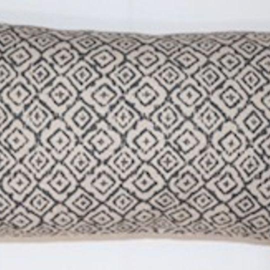 geometric grey cushion cover