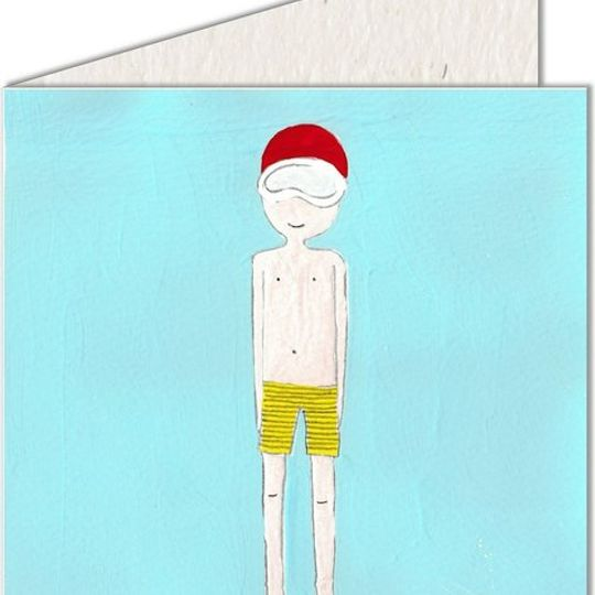Greeting Card | Boy in swimwear